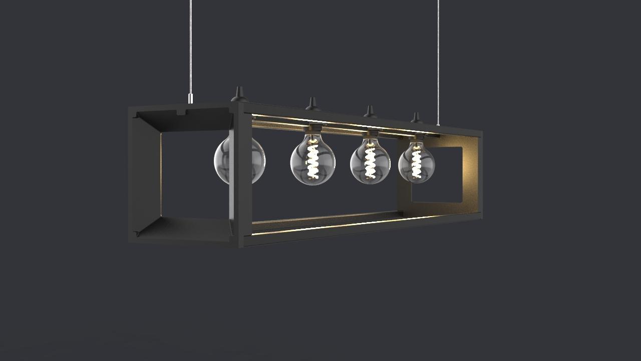 ABID zwarte standaard lamp